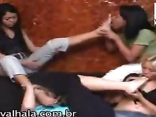 Fetish, Gangbang, Lesbian, Lesbian Gangbang