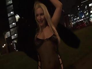 Smut Voyeur Evening Outside Close By Blonde Dabbler