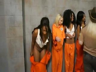 Schwarz, Ficken, Gefängniss, Lesbisch, Milf