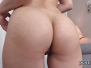 European Sweetie Enjoys Speculum And Slides Huge Dildo In Vagina