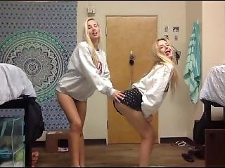 2 Sexy College Girls Play In Their Dorm Room
