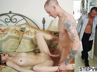 Lily Jordan Fucked By Bf And Stepbro