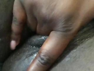 Playing With My Super Wet Black Pussy
