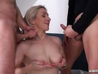 Busty French Amateur Milf Julie In Her 1st Dp Threesome Scene
