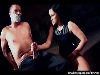 Clair Brooks Wanks Chair Tied Tape Gagged Prey