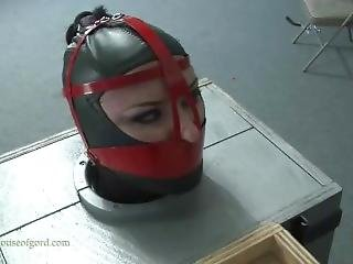 Rubber Bondage Doll Leashed Walked And Boxed