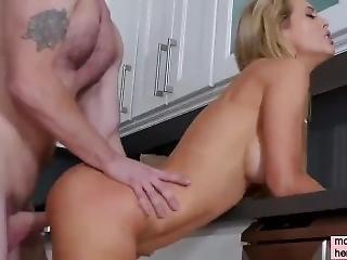 Drunk Master Fucks His Maid On The Kitchen Table