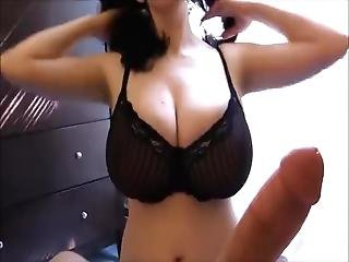Big Titted Brunette Milf Gives Her Stepson A Titty Fuck Titwank Titjob
