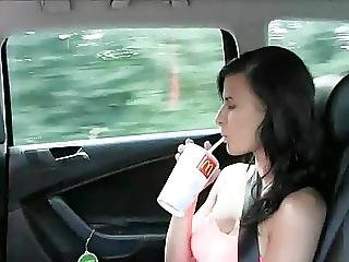 Girl Gets Paid By Her Taxi Driver To Get Her Boobs Out