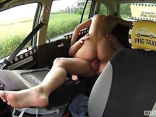 Big Tit, Czech, Public, Taxi, Teen