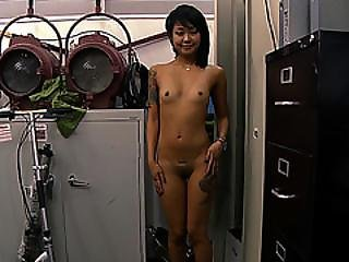 Amateur Petite Asian Selling A Massage Kit And Ends Up Fucked