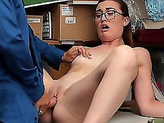 Nerdy Kat Monroe Caught And Fucked In Her Pussy