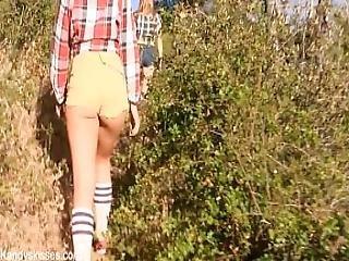Hiking In Daisy Dukes