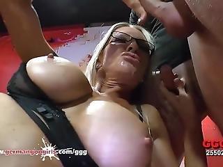 Mature Emma Starr First Gangbang In Bukkake Arena - German Goo Girls