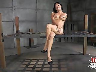 Sexy Frau anal fisting