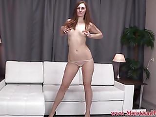 Pissing Babe Masturbates Before Orgasm With Dildo