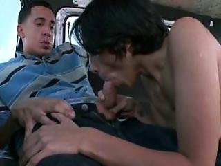 Hot Bitch Fucking A Hard Penis With Lust In The Sex Bus