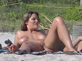 Brunette Milf On The Beach