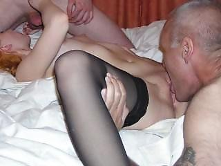 Slideshow: Grandpa With Young Bisexual Couple And Their Teen Friends