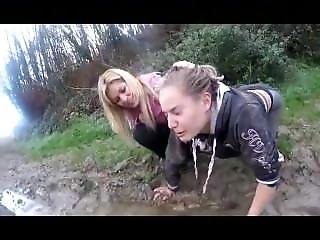 French Lesbian Domination!!! Cucciolo! Total Humiliation