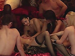 Group Swinger Reality Show Massaging Redhead Babe