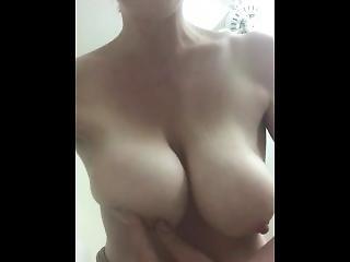 My 32h Natural Big Huge Breast Fondling