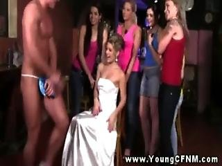 Bride, Cfnm, European, Femdom, Handjob, Humiliation, Stripper, Surprised, Teen, Voyeur