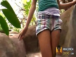 Tiny Girl Takes A Huge Dick 0001