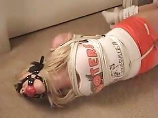 Gainsville Hooters Girl Melissa Hogtied