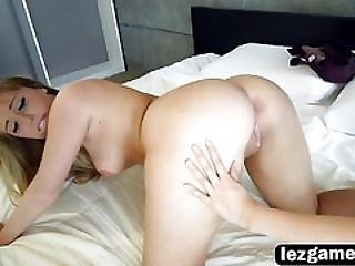Lyra Is Mad Ate Her Roommate Harley So She Fucks Her Pussy With A Strapon