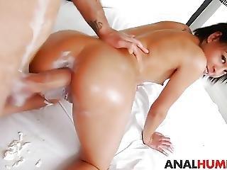 Cute Latina Grazy Almeida Gets Analized