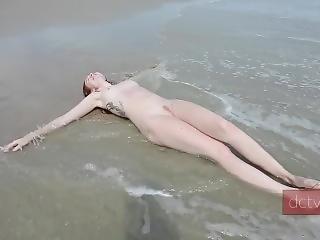Teen Nude Beach Delilahcass Mermmaid Public Nudity