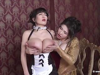 Hitomi Tanaka Anri Okita Boob Sucking