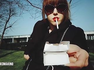 Persuading Non-smoking Friend To Have A Cigarette (pov)