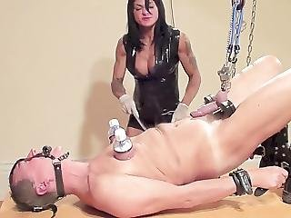 Dometria Hangs Him By The Balls And Bullwhips Him