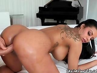 Exotic Latina Bombshell Has Pussy Rammed