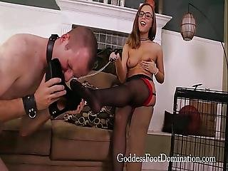 Roxanne-caged-stocking-slave-trailer