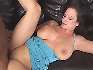Brunette With Big Tits Take A Black Cock In Her Pussy