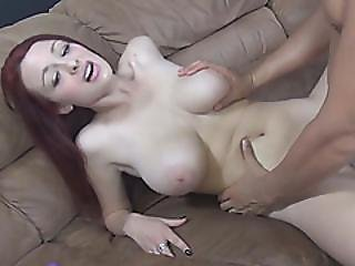 Busty Teen Jessica Robbins Riding Boner On Couch