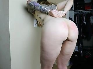 Pawg Gets Spanked With Belt And Paddle Bad Girl Elleattheessex