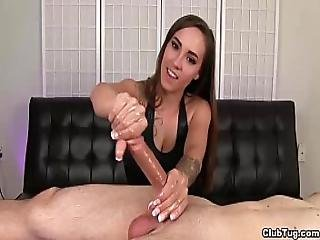 Clutug-sexy Brunette Pov Handjob