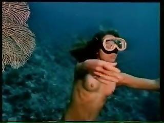 érotique, fétiche, lesbienne, embêter, sous l'eau, vintage