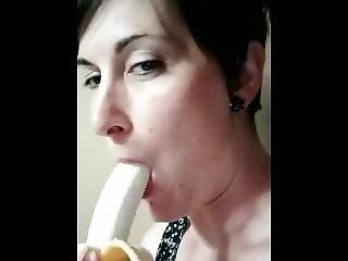 amateur, luder, banane, milf, solo, lutschen