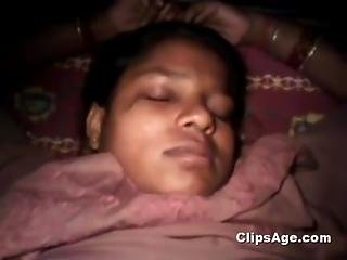 Sleeping Indian Desi Wife Getting Exposed After Waking Her Up