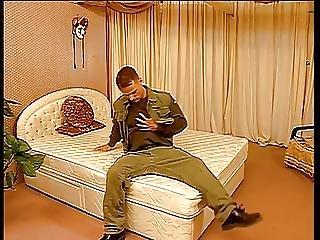 Guy In Army Uniform Masturbating