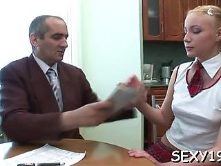 Petite Chick Is Getting Tenacious Doggystyle Sex From Teacher