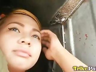 Trike Patrol - Young Filipina Cutie Eager To Be Picked Up And Fucked