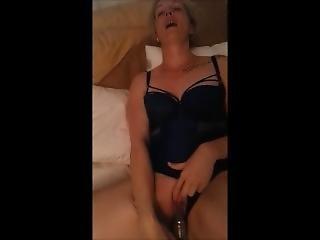 British Busty Blonde Mom Milf Fucks Her Pussy