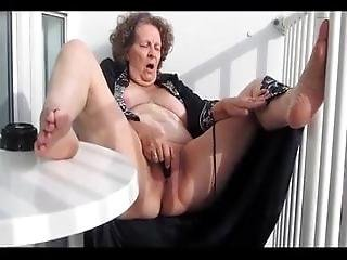 Hot Granny Really Knows How To Make Herself Cum