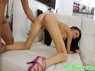 Assfucked Eurobeauty Rides Cock